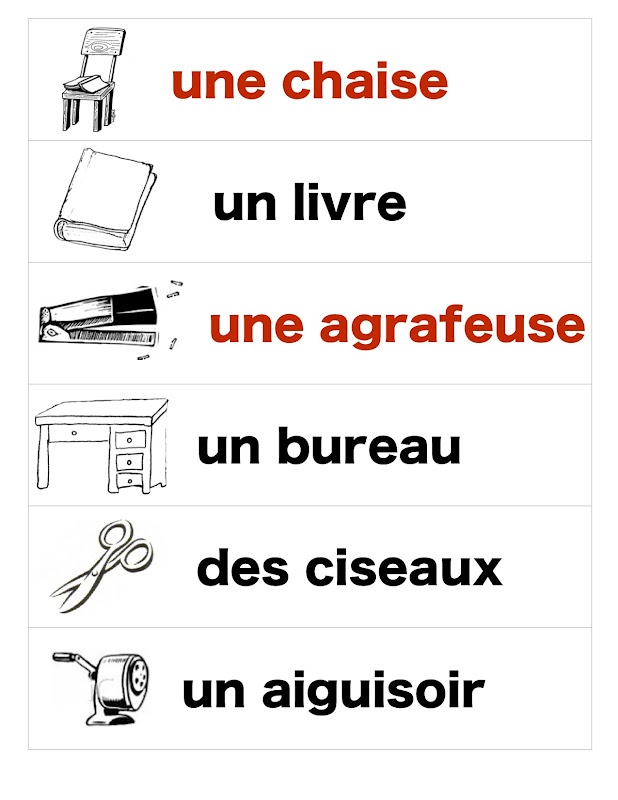 Madame Belle Feuille: Vocabulary Tools