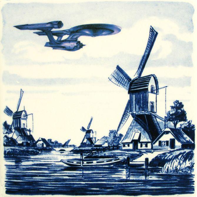 Let's keep it wild.: Delft blue tile