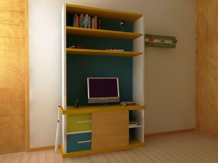 Diseño de Mobiliario para Niño. Ambientacion y Decoracion con tematica deportiva. www.cubo3.com