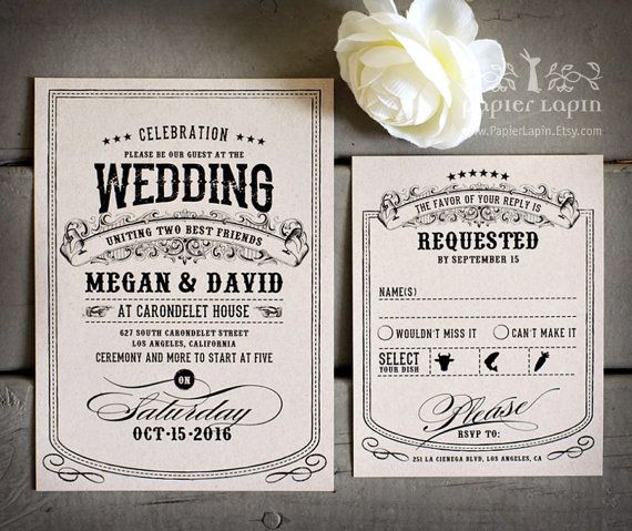 Alchemy quirky wedding invitation eco friendly by PapierLapin