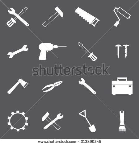 Tools icons set illustration