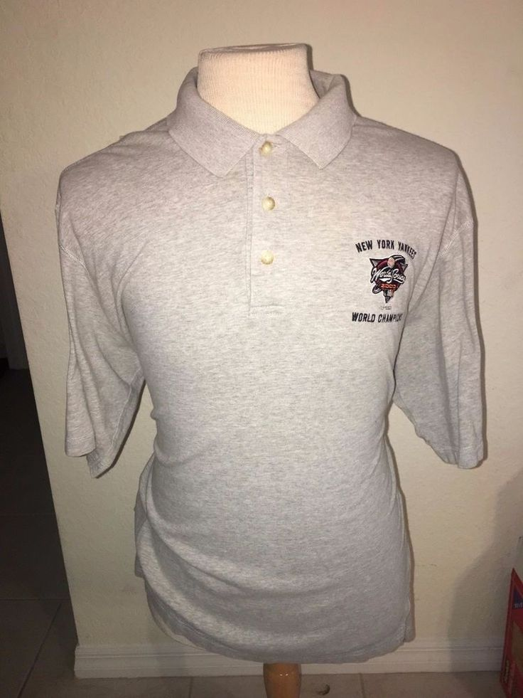 New York Yankees 2000 World Series Champions Polo Shirt Mens Large Embroidered   #GEARFORSPORTS #PoloRugby