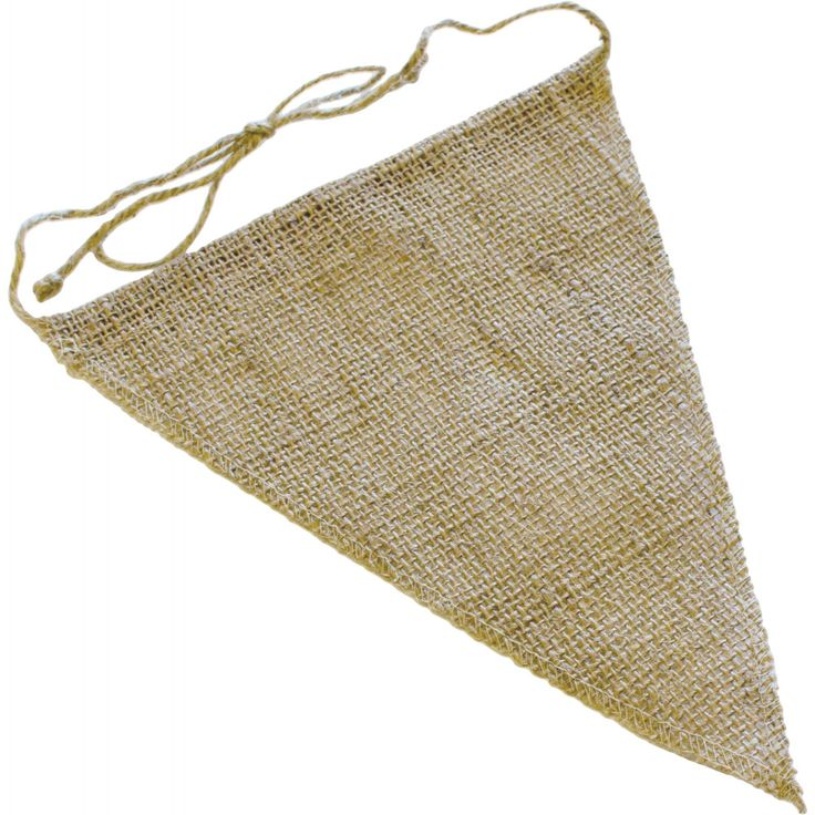 """8"""" by 10"""" Burlap Pennant Triangle Banner"""