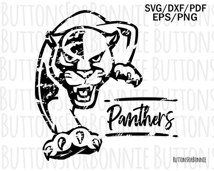 Panthers svg, panthers distressed svg, team spirit svg