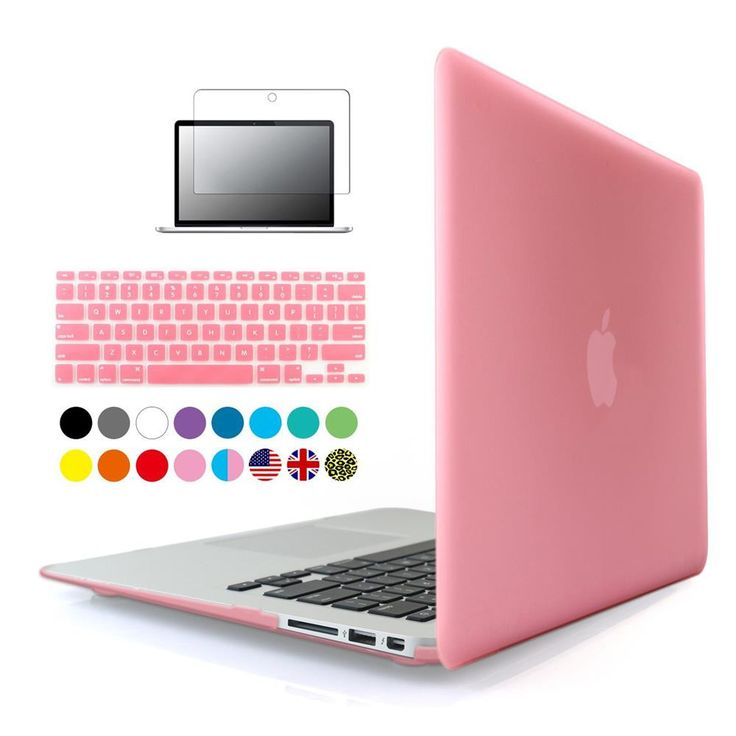 Rubberized clear Crystal/Matte Hard Case Cover For Macbook air 11 inch sleeve with Film+Keyboard Cover para portatil laptop case