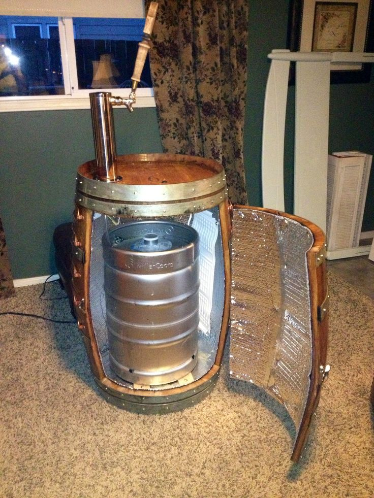 Diy Kegerator Made Out Wine Barrel