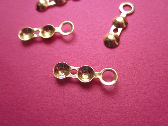 #Crimp #Bead Tip Gold plated http://etsy.me/1I3IQX8 #jewelry #mount #brass #jewel #gem #bezel #setting #goldplated #gold #24k