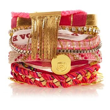 Bracelet brésilien Imperial doré et rose - Hipanema - Nouvelle Collection et ventes privées - Ref: 1207474 | Brandalley