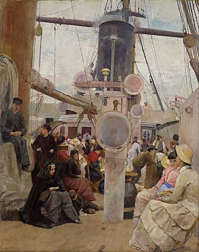 Coming South by Tom Roberts.    Painted in Melbourne, 1885-86. National Gallery Victoria, Melbourne. Gift 1967.