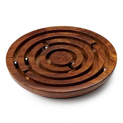 """WOODEN LABYRINTH GAME   I think there is still opportunity to take traditional kids toys and """"up the quality"""", size, etc., and make them an adult table top, executive toy...ex: Large Newtons Cradle, Lg. Plasma Ball, etc."""