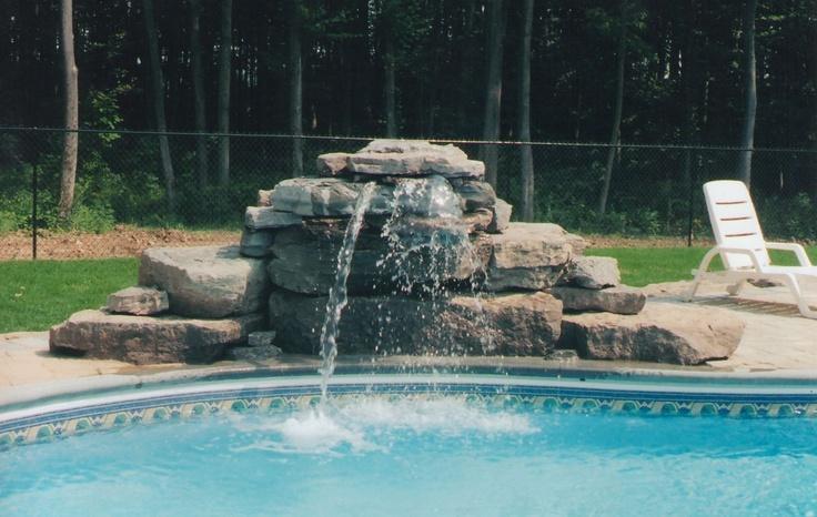 Swimming Pool Waterfalls | Inground | Fonthill | St