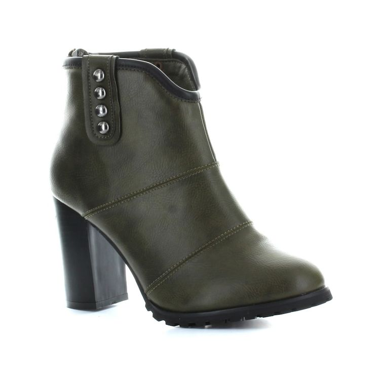 Seven7 Seville Women's High Heel Ankle Boots, Size: 9.5, Dark Green