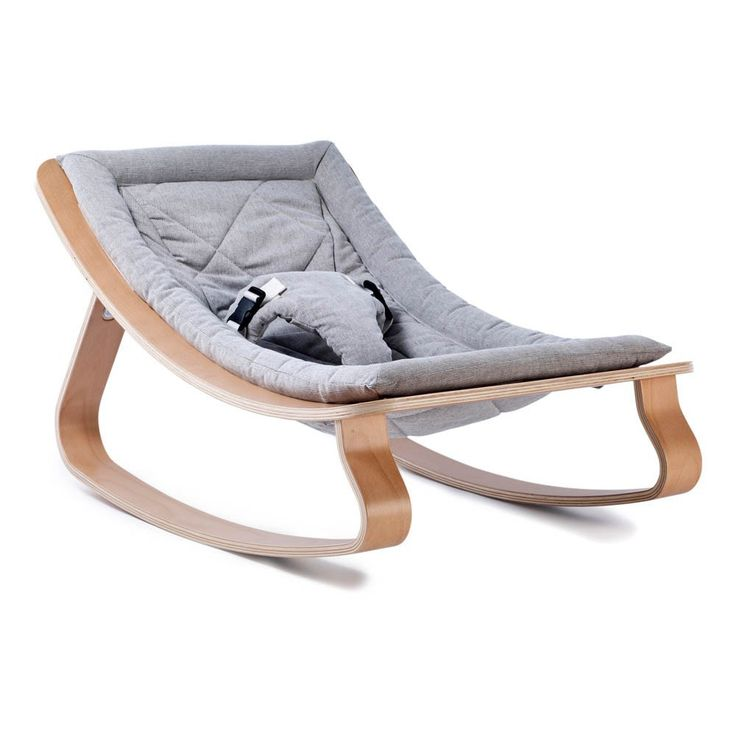 Transat Levo hêtre - Gris Charlie Crane Bébé- Large choix de Design sur Smallable, le Family Concept Store - Plus de 600 marques.