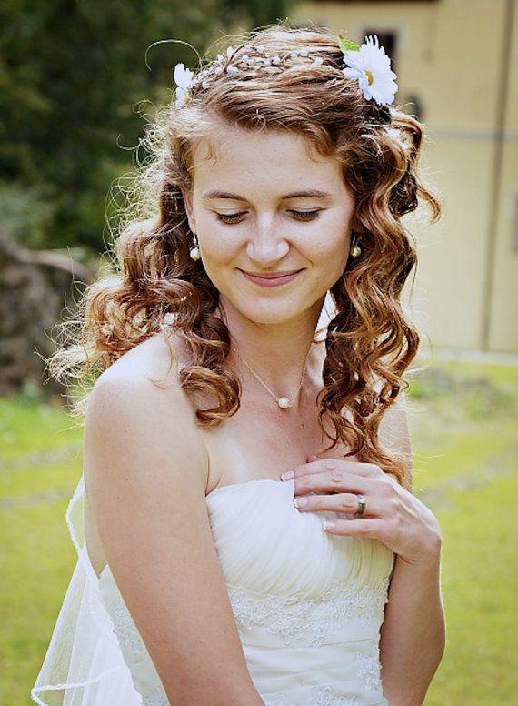 CZ Pearl Earrings Ivory or White Pearl Earrings by LuciaStofej