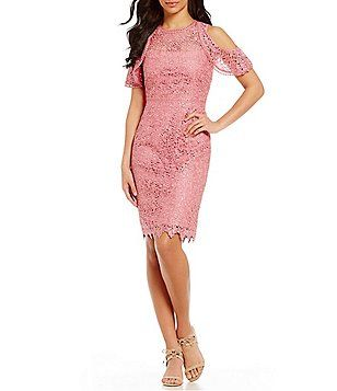 Antonio Melani Kalinda Cold-Shoulder Chemical Lace Dress