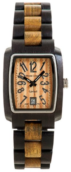 Tense Timber Natural Wood Watch - This modern yet classic sport collection is one of our favorite line of watches.  Made of natural solid Sandalwood.  Sizable to fit all.  The crowns and automatic push-button clasps are made of premium quality stainless-steel.  All bracelets are hypo-allergenic.  Features calendar date and luminescent hands.