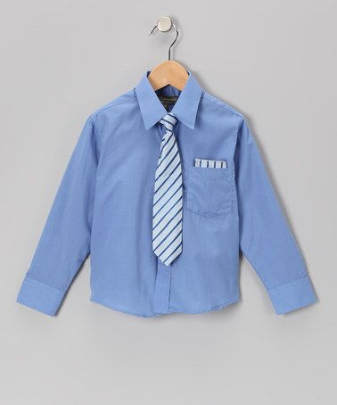 Take a look at this French Blue Shirt Set - Infant, Toddler & Boys by Angels New York on #zulily today!