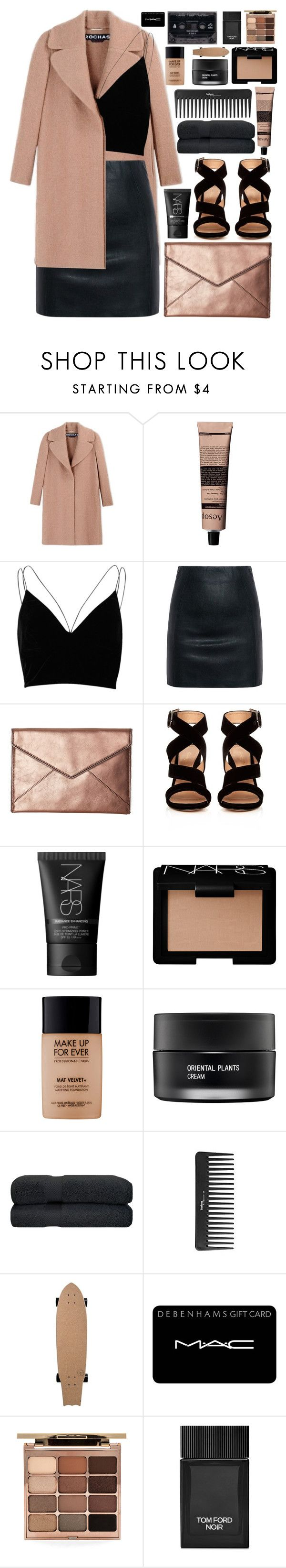 """take me home (top set)"" by charli-oakeby ❤ liked on Polyvore featuring Rochas, Aesop, River Island, McQ by Alexander McQueen, Rebecca Minkoff, Gianvito Rossi, NARS Cosmetics, MAKE UP FOR EVER, Koh Gen Do and Sephora Collection"