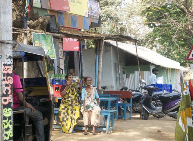 Locals from the Rickshaw, Gokarna in Karnataka, India
