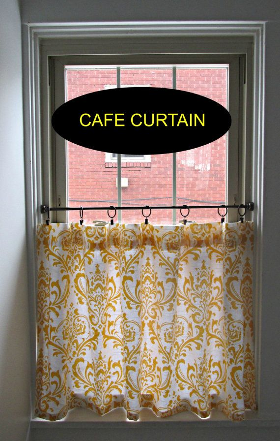Hey, I found this really awesome Etsy listing at https://www.etsy.com/listing/184018754/damask-cafe-curtain-you-choose-color