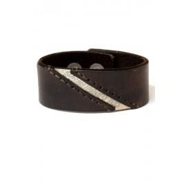 Diesel Men's Brown 'Bengie' Leather Cuff Style Bracelet
