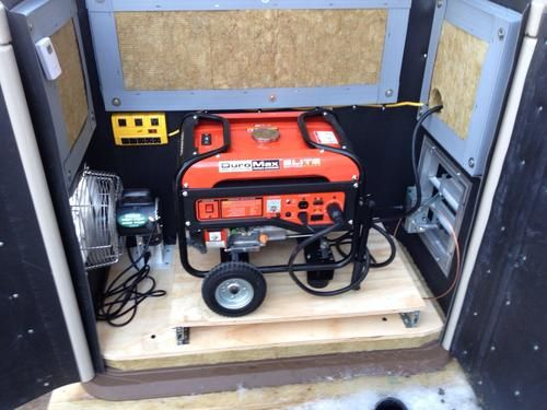 Simple Portable Generator Shelter : How to shelter your portable generator during bad weather