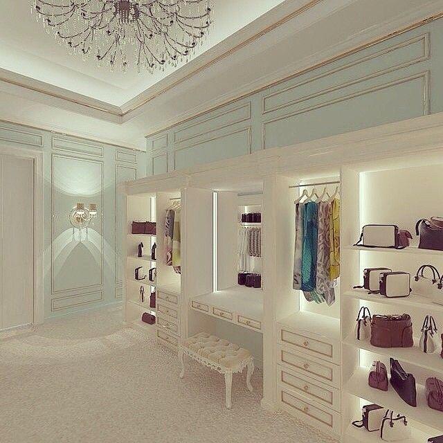 #quarto da #vaidade #Quarto de #vestir #Dressing room #Closet #penteadeira…