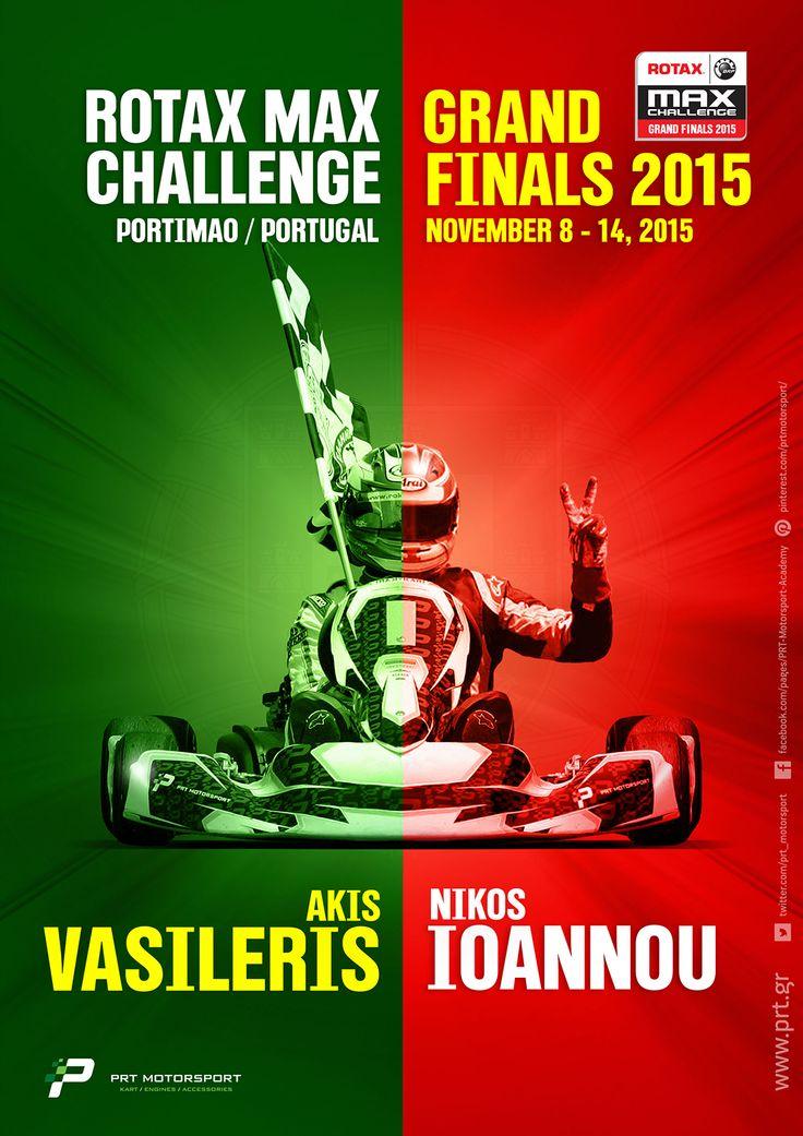 Ο Ακής Βασιλέρης και ο Νίκος Ιωάννου με την ομάδα τους PRT Motorsport θα εκπροσωπήσουν την Ελλάδα στις κατηγορίες Rotax DD2 & Rotax Senior στο Παγκόσμιο Τελικό του Rotax Max Grand Finals 2015 στην Πορτογαλία