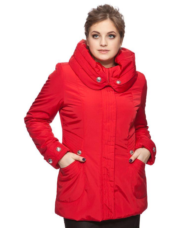 Красные женские куртки