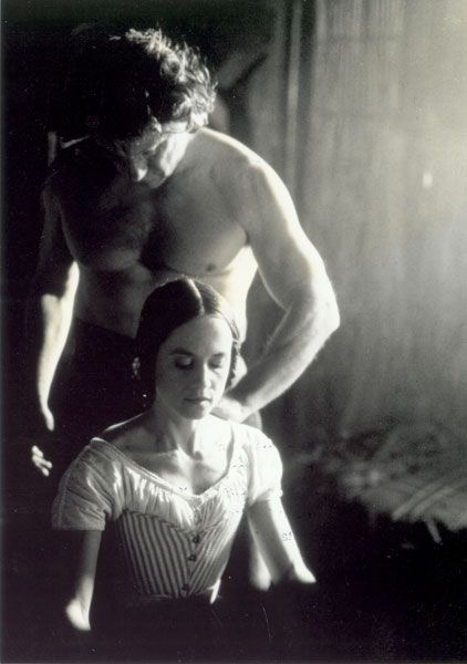 Holly Hunter as Ada McGrath and Harvey Keitel as George Baines - 'The Piano', 1993, directed by Jane Campion.