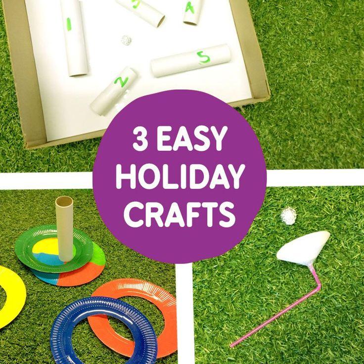 3 Easy School Holiday Crafts!