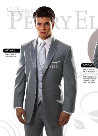 Wholesale Wedding tuxedos for groom Custom Made suit Groom Wear mens Two Buttons single breast 0130, Free shipping, $117.6-133.28/Piece | DHgate