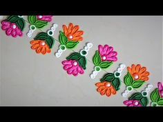 Easy and quick peacock border rangoli design | Rangoli by Poonam Borkar - YouTube