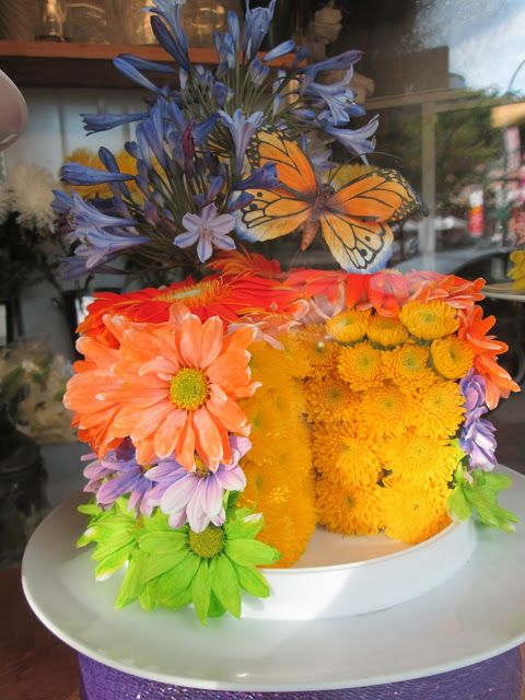 A Cake Made of Flowers A Cake Bouquets?