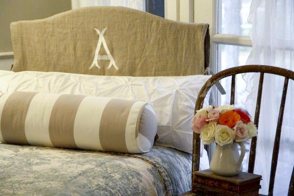 Monogrammed Headboard Slipcover, and 19 other slipcover ideas!