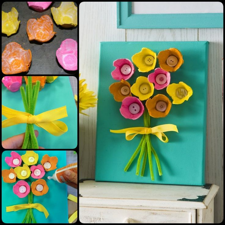 Mothers Day Craft for Kids- Egg Carton Art