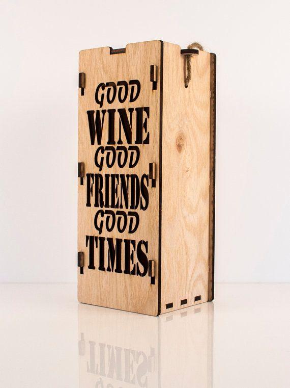 Single bottle wooden wine box  www.etsy.com/shop/CustomEngravedArt