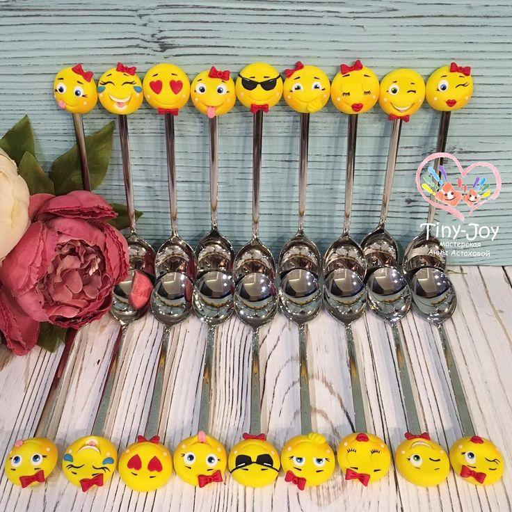 Маленькие веселые подарки  для большой компании #tiny_joy #смайл #смайлы #настроение #желтый #polymerclay #fimo #handmade  #вкусные_ложки #ложка #вкусныеложки  #ложки #арт #подарок #полимернаяглина  #ручнаяработа  #clay #ложкасдекором #ложканазаказ