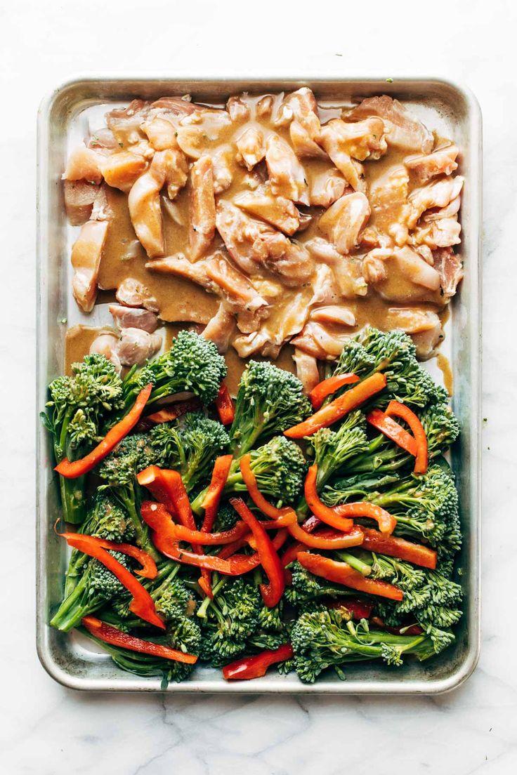 Sheet Pan Garlic Ginger Chicken And Broccoli  Recipe -1020