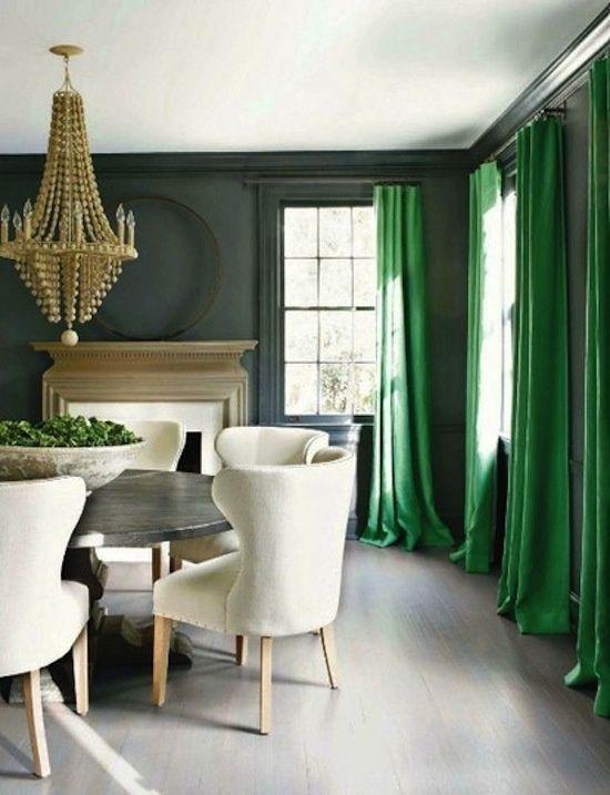 groene gordijnen