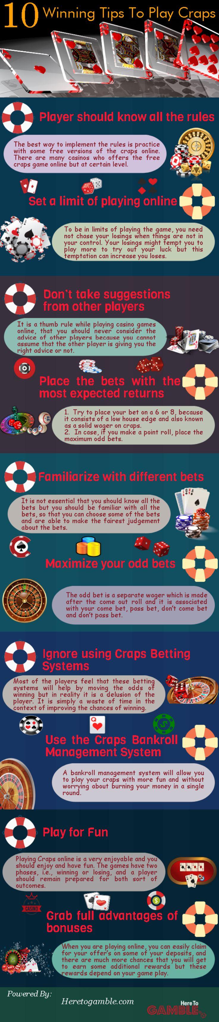 Explore the magic of winning craps online - Learn Top 10 #Winning Tips to play #Craps #Online