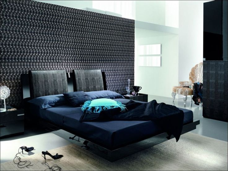 Dark Blue And Black Bedroom 42 best fun furniture images on pinterest | architecture, bedrooms
