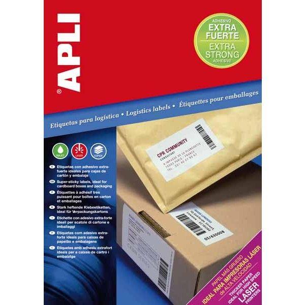 Comprar Etiquetas Blancas Adhesivo Extra fuerte 105x 37mm Apli 11783 #adhesivo #extrafuerte #business #etiquetas #blancas #material #empresa #comercio #comercial