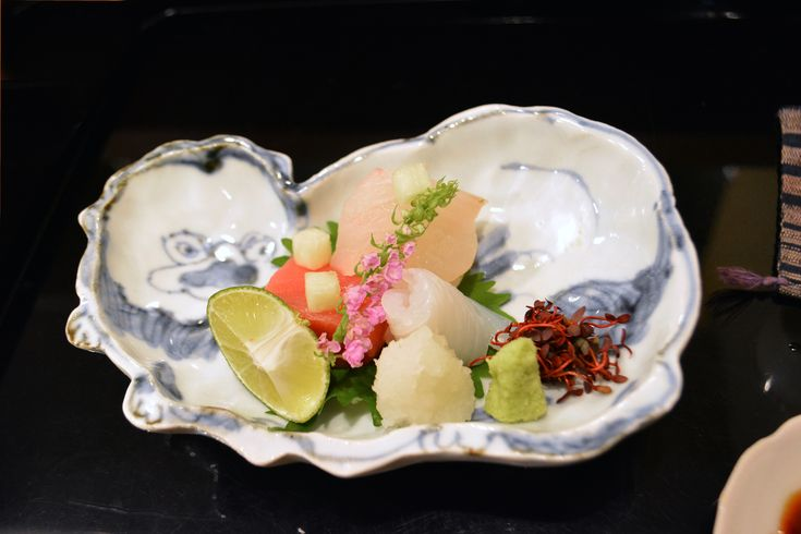 Bite-sized bliss: The sashimi course at Moirwaki includes servings of kinmedai…