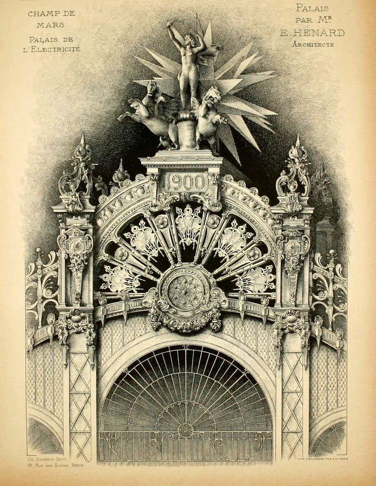 Sculptural details of the Palace of Electricity at the Exposition Universelle of 1900, Paris