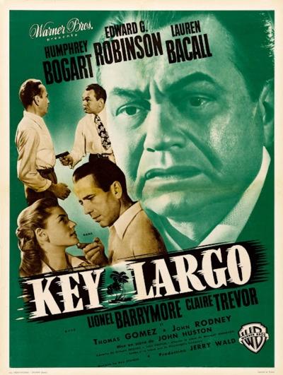 KEY LARGO ~ Edward G Robinson, Lauren Bacall, Humphrey Bogart & Lionel Barrymore