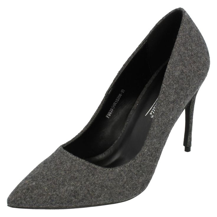 Ladies Anne Michelle Grey Court Shoes