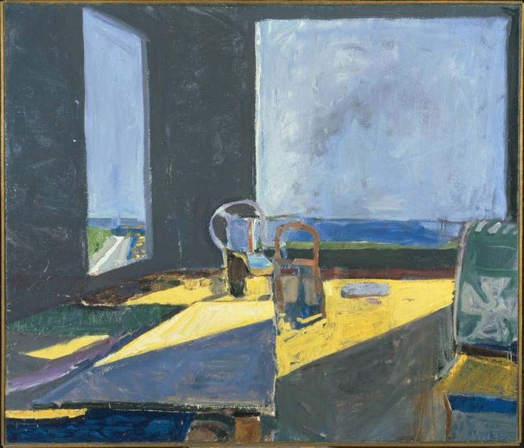 Richard Diebenkorn / Interior with View of the Ocean / 1957 / Oil on canvas
