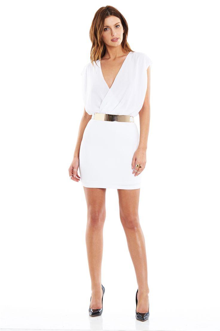 NOOKIE PARLOUR WRAP DRESS WHITE #nookie #springfling #spring2013