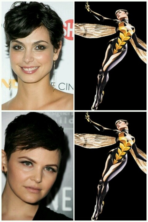 My two choices to potentially play THE WASP if they choose to include her (which they should) in Avengers 2 movie. Top: Morena Bacarrin Bottom: *Ginnifer Goodwin (*my preferred choice)